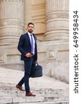 a handsome young businessman... | Shutterstock . vector #649958434