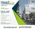 blue and green flyer cover... | Shutterstock .eps vector #649958989
