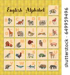 hand drawn animals poster for... | Shutterstock . vector #649959496
