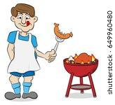 vector illustration of a man... | Shutterstock .eps vector #649960480