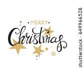 merry christmas lettering... | Shutterstock .eps vector #649966528