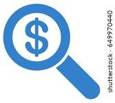 cobalt financial audit loupe... | Shutterstock .eps vector #649970440