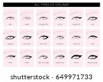 types of eyeliner. vector ... | Shutterstock .eps vector #649971733
