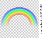 vector realistic rainbow... | Shutterstock .eps vector #649975783