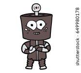 happy cartoon robot | Shutterstock .eps vector #649980178