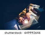 cyber security job business ... | Shutterstock . vector #649992646