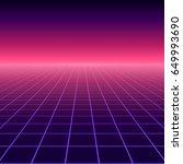 vector perspective grid.... | Shutterstock .eps vector #649993690