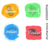 set of colorful universal use... | Shutterstock .eps vector #650000956