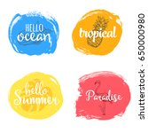 set of colorful universal use... | Shutterstock .eps vector #650000980