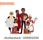 set of characters and people... | Shutterstock .eps vector #650001034