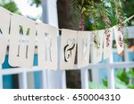 mr and mrs letters brown die... | Shutterstock . vector #650004310