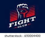 fist emblem design illustration ... | Shutterstock . vector #650004400