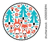 children pattern  scandinavian... | Shutterstock .eps vector #650005894