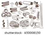 vector collection of... | Shutterstock .eps vector #650008150
