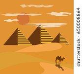 Egypt Desert With Piramid...