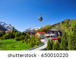Cable Car And Cottages In The...