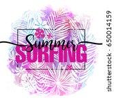 summer surfing. modern... | Shutterstock .eps vector #650014159