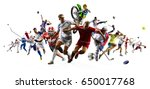 huge multi sports collage... | Shutterstock . vector #650017768