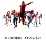 sport collage boxing soccer... | Shutterstock . vector #650017804