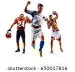 multi sport collage soccer... | Shutterstock . vector #650017816