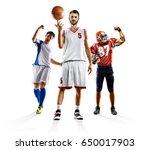 Multi sport collage soccer...