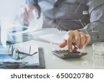 businessman hand working with... | Shutterstock . vector #650020780