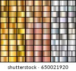 set of realistic silver  rose... | Shutterstock .eps vector #650021920