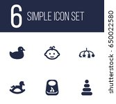 set of 6 child icons set... | Shutterstock .eps vector #650022580