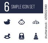 set of 6 child icons set...   Shutterstock .eps vector #650022580