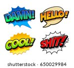 retro comic speech bubbles with ... | Shutterstock .eps vector #650029984