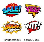 retro comic speech bubbles with ... | Shutterstock .eps vector #650030158