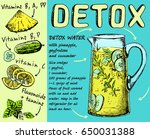 detox water.  detox water from... | Shutterstock .eps vector #650031388