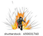 hand drawn a bomb suit must... | Shutterstock .eps vector #650031760