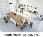 3d rendering of modern kitchen...   Shutterstock . vector #650039476