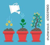 three stages of growing money...   Shutterstock .eps vector #650039800