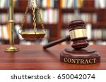 contract law | Shutterstock . vector #650042074