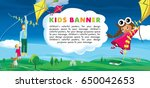 summer kids. template for... | Shutterstock .eps vector #650042653