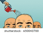 remedy for hair growth. bald... | Shutterstock .eps vector #650043700