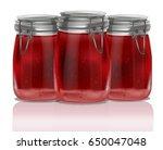 jam or juice jar composition....   Shutterstock . vector #650047048