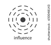 influence glyph icon.... | Shutterstock .eps vector #650048143