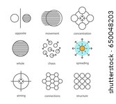 abstract symbols linear icons... | Shutterstock .eps vector #650048203