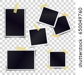 vector collection of blank... | Shutterstock .eps vector #650049760