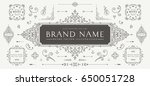 vintage decorations elements... | Shutterstock .eps vector #650051728