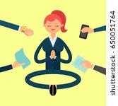 vector illustration. meditation ... | Shutterstock .eps vector #650051764