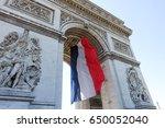 french flag arc de triomphe | Shutterstock . vector #650052040