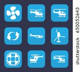 rotate icon. set of 9 filled... | Shutterstock .eps vector #650052643