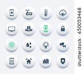 smart house icons set | Shutterstock .eps vector #650053468