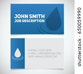business card print template... | Shutterstock .eps vector #650059990