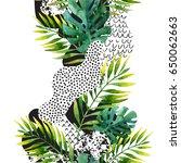 abstract summer geometric... | Shutterstock . vector #650062663
