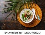 pho bo vietnamese soup with... | Shutterstock . vector #650070520